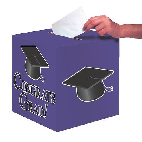 Purple Graduation Card Box