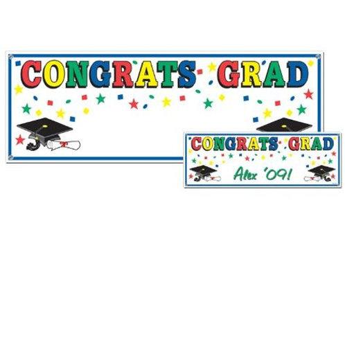 Congrats Grad Jumbo Banner Sign