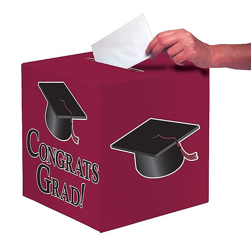 Burgundy Graduation Card Box