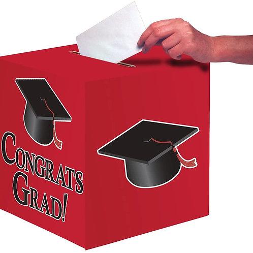 Red Graduation Card Box