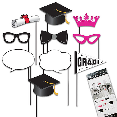 Chalkboard Grad Photo Props