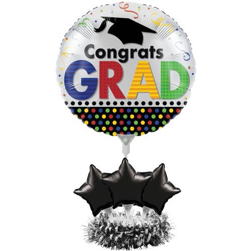 Congrats Grad Balloon Centerpiece Kit