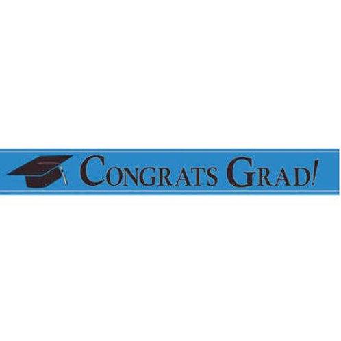 Blue Congrats Grad! Banner