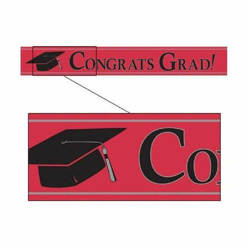 Burgundy Congrats Grad! Banner