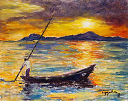 67-Hang-Nguyen-Sunset-In-Hoi-An-oil-scal