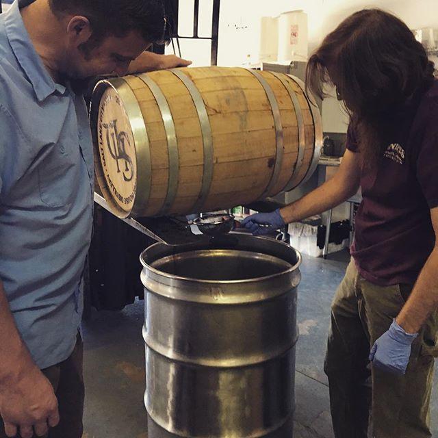 Getting some freshly dumped barrels!