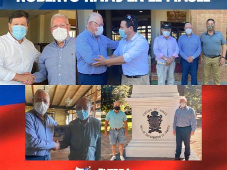Vicepresidente Roberto Rivas sostiene importantes reuniones en Maule