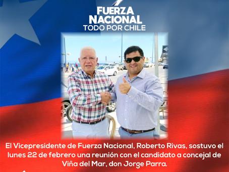 El Vicepresidente Roberto Rivas se reunió con el candidato a concejal de Viña del Mar Jorge Parra