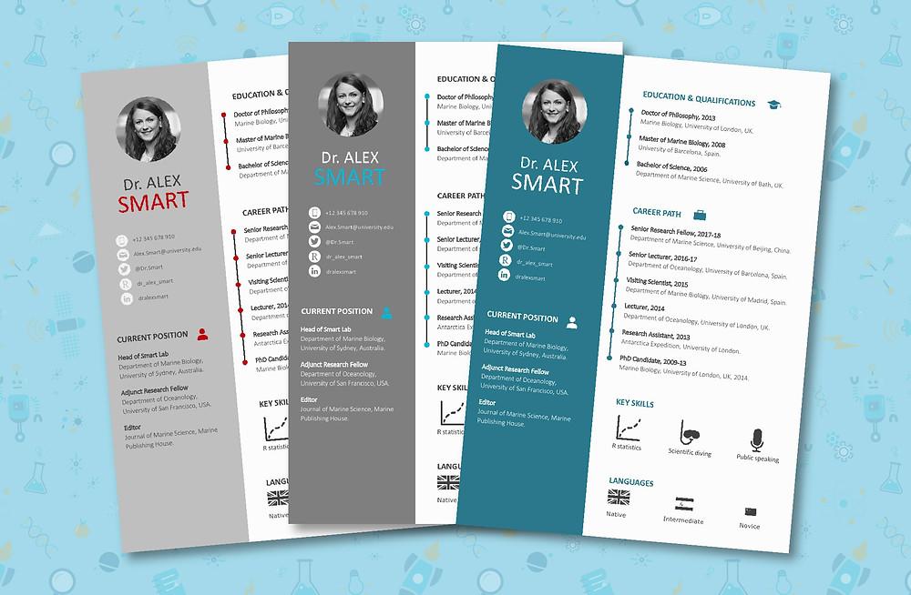 Free infographic resume academic CV curriculum vitae