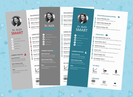 Free Infographic Résume Template for Academics