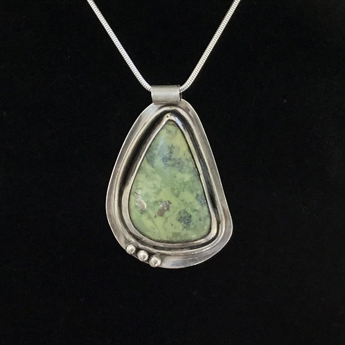 Green Peruvian Opal Pendant