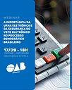 OAB-PB realizará Webinar sobre a importância da urna eletrônica e da segurança do voto eletrônico
