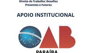OAB-PB, Nova ESA e CAA apoiam II Congresso Paraibano de Direito do Trabalho