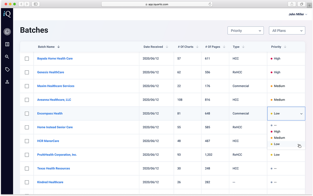 The iQuartic webapp design showing a clean UX UI design