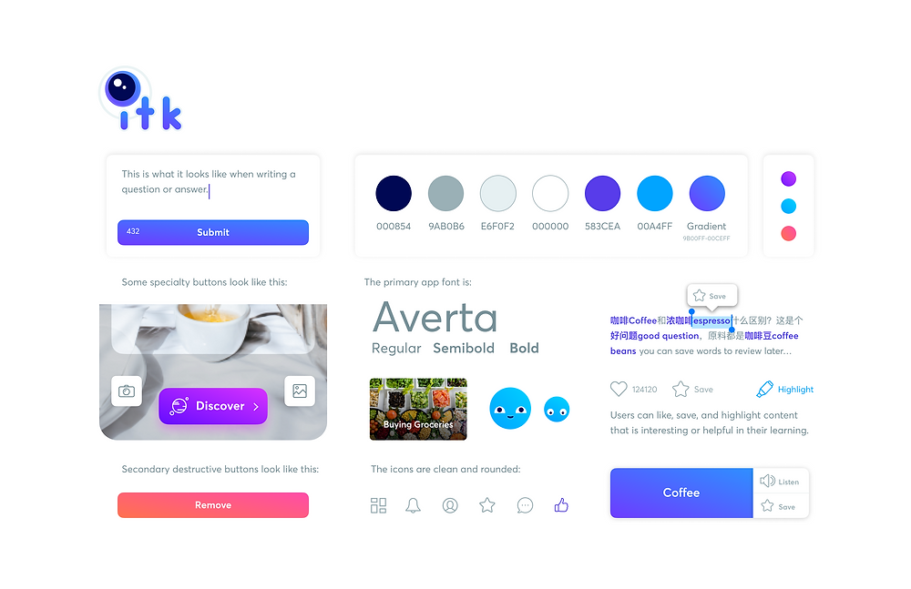 The In the Know UI UX design process mockups