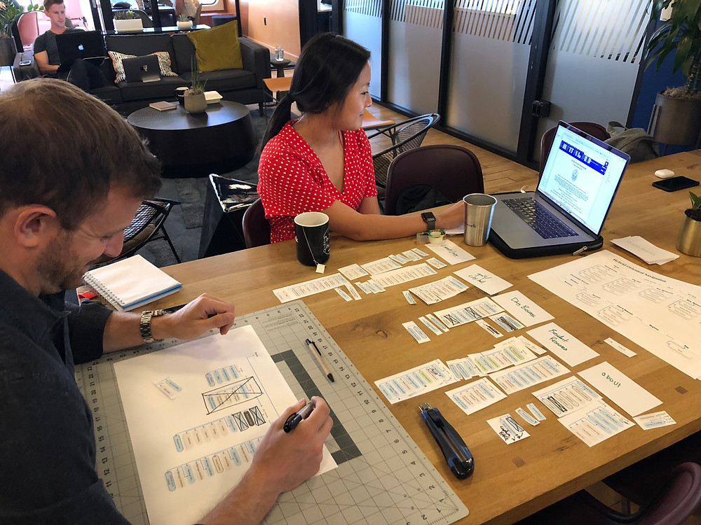 Our team hard at work collaborating on the City of Everett UX UI design project