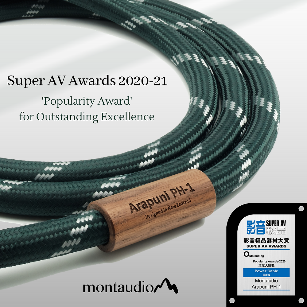 Super AV Awards 2020 - 21 | Montaudio Arapuni PH-1 Silver Hybrid Power Cable