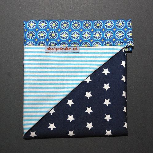 Kopftuch Sterne blau