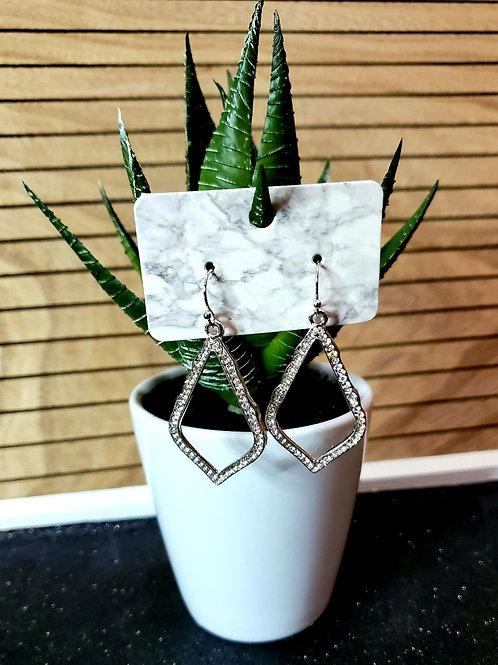 Teardrop Mini- Silver Rhinestone