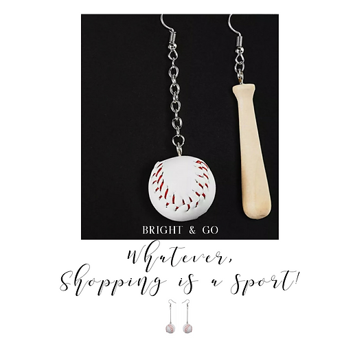 Hey batter batter baseball pendant earrings