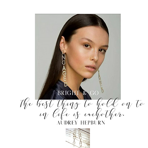 Let's Tell the World Engaged Earrings