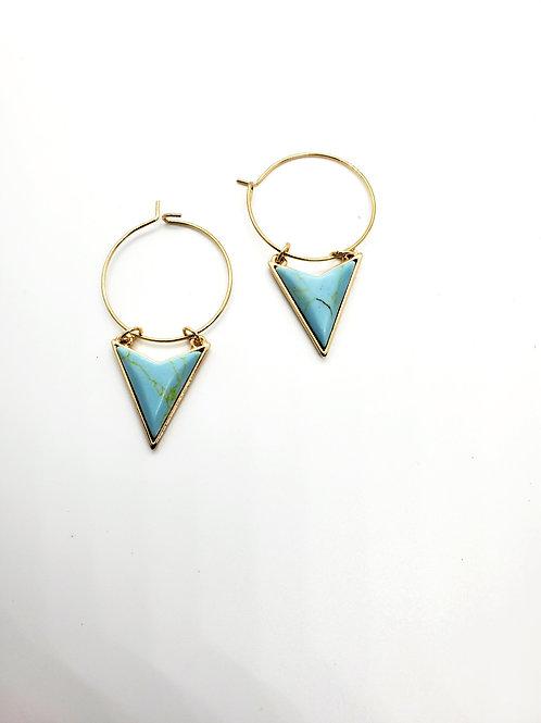 Boho Hoop Arrow - in Turquoise