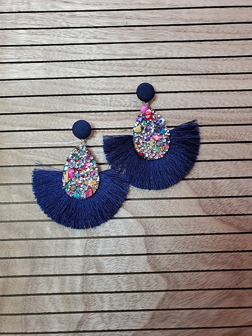 Fringy Festivities - in Extra Large Navy