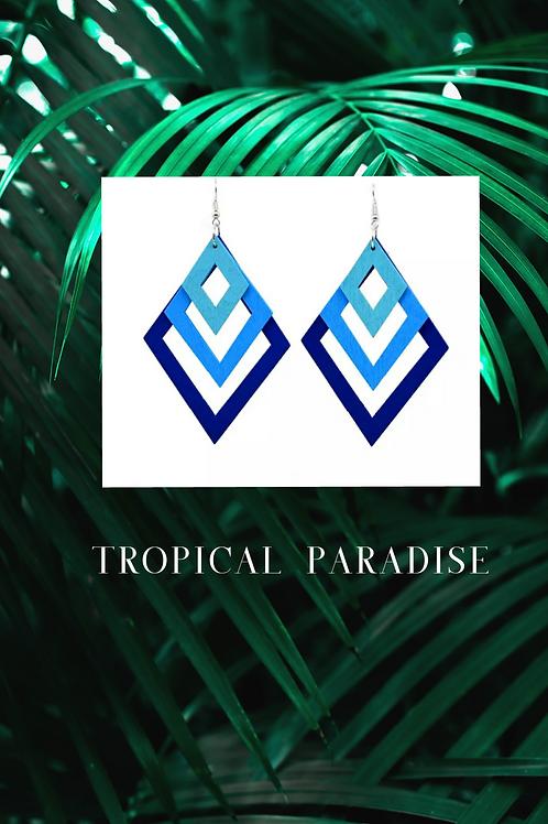 Tropical Paradise-Blue Ombre