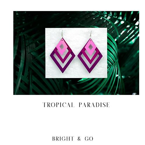 Tropical Paradise-Fuchsia Ombre