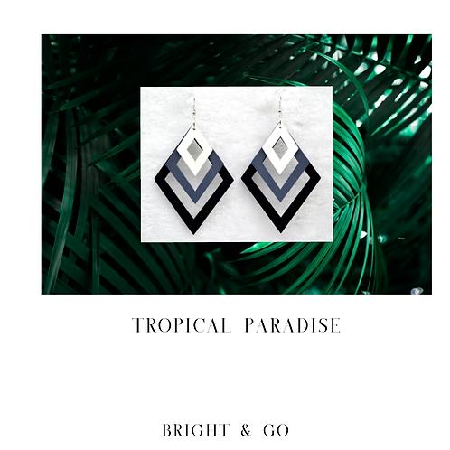 Tropical Paradise-Black Ombre