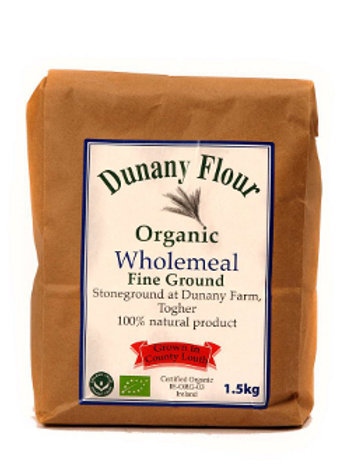 Organic Wholemeal Fine Ground Dunany Flour - 1.5kg