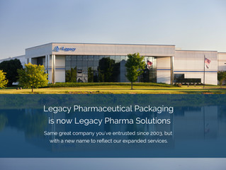 Legacy Pharmaceutical Packaging Rebrands as Legacy Pharma Solutions