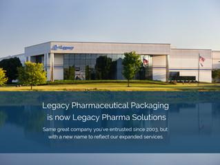 Legacy Pharmaceutical Packaging Rebrands as Legacy Pharma Solutions