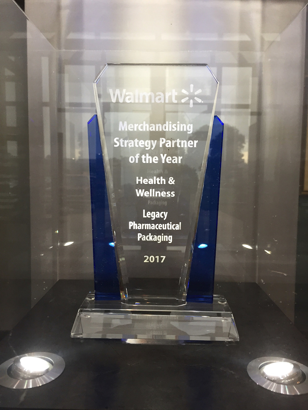 Legacy Awarded Walmart's Merchandising Strategic Parner of the Year in Health & Wellness for 2017