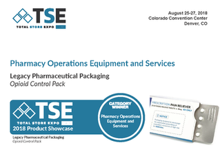 Legacy's Opioid Control Pack wins TSE Pharmacy Operations Equipment and Services Award