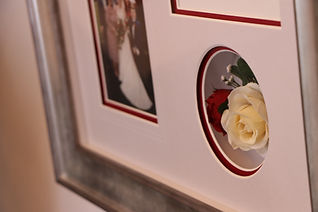 Flowers in a wedding frame