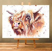 Highland Cow watercolour