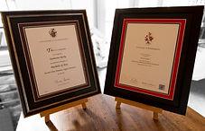 Degree certificate frames