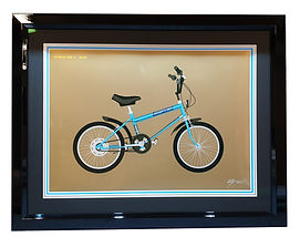 Framed print with tripple mount