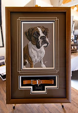 Boxer Memorial Frame