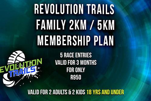 Family 2km - 5km Membership Plan