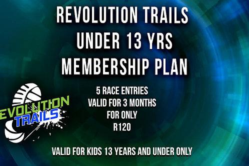 Under 13yrs Membership Plan