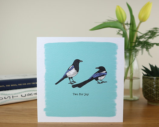 Two Magpies Greetings Card