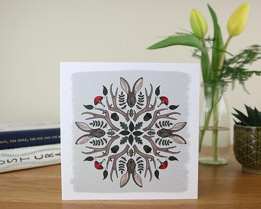 Hare Kaleidoscope Greetings Card