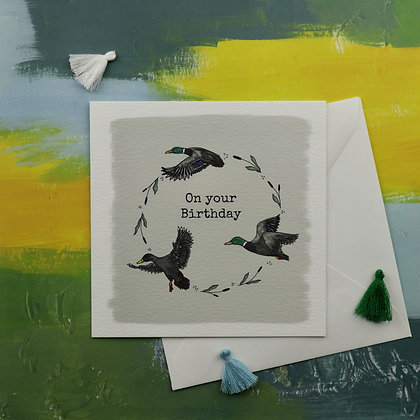 Birthday Ducks Greetings Card