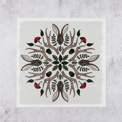 Hare Kaleidoscope Print