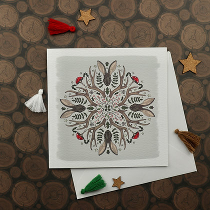 Pack of 6 Christmas Kaleidoscope cards