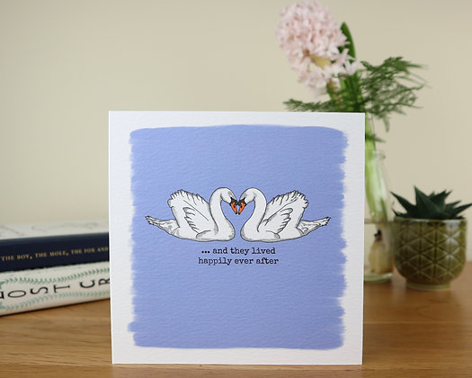 Happily Ever After Swans Greetings Card