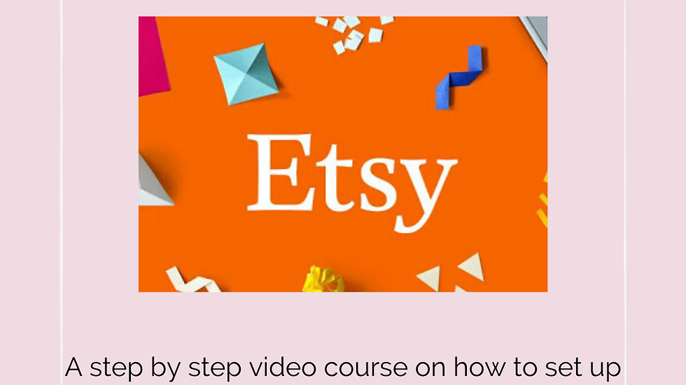 Etsy for Beginners Course