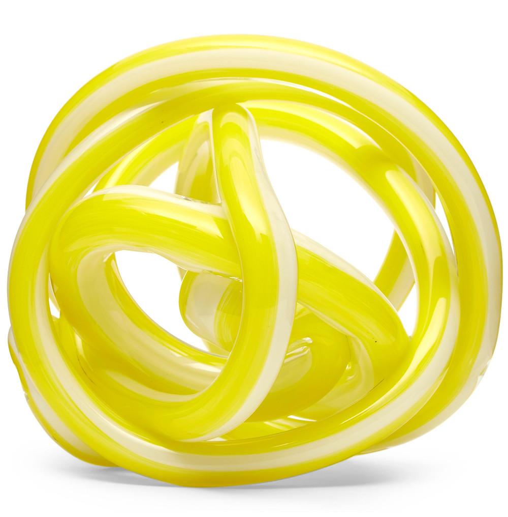 yellow glass ornament